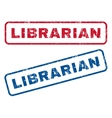 Librarian Rubber Stamps vector image
