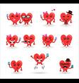 valentines day couple heart emoji set vector image