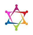 Teamwork star logo vector image