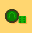 flat icon design collection dice and lucky chip vector image vector image