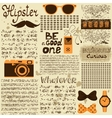 Hipster seamless vintage newspaper vector image vector image