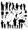 set of family vector image vector image