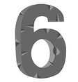 Numeral six vector image