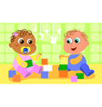 cute playing babies vector image vector image
