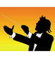 conductor silhouette vector image