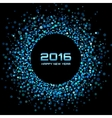 Blue Bright New Year 2016 Background vector image