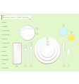 Detailed of Lunch Table Setting vector image