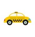 Yellow taxi icon vector image vector image