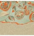 Vintage Rose Background Card vector image