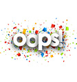 Oops paper card vector image