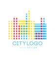 city logo original design abstract geometric vector image