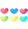 Colorful hearts set isolated on white vector image