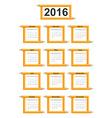Creative education calendar 2016 year design vector image