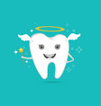 cute angelic tooth vector image