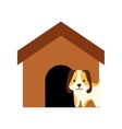 dog animal pet ear long brown house vector image