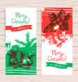Hand drawn set of Christmas banners vector image