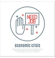 icon on a theme of economic crisis vector image
