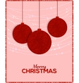 Retro Christmas background with decorative balls vector image