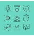 Set of line icons in the flat style vector image