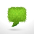 Green grass bubble isolated vector image