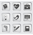 Icons on the buttons for Web Design Set 2 vector image vector image