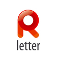 colorful abstract logo letter R vector image
