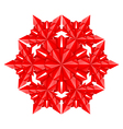 red paper snowflake vector image