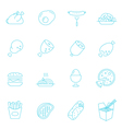 Thin lines icon set - Western food vector image vector image