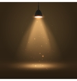 The lamp lights the light from the lantern vector image vector image