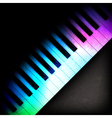 Abstract grunge dark music background with spot vector image