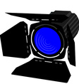 Blue spotlight vector image