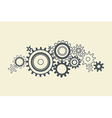 connected cogs gears vector image