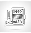 Kit for children art linear icon vector image