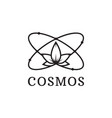 simple black icon of atom cosmos logo vector image