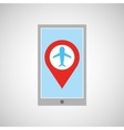 smartphone e-commerce airplane pin map vector image