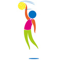 Sport icon design for volleyball vector image