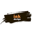 spot ink grunge banner vector image