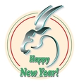 stylized head a goat symbol the year 2015 vector image