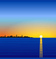 Sunset sea landscape vector image