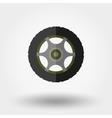 Wheel Flat icon vector image