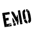 Emo rubber stamp vector image