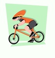 funny little kids ride a bicycle race vector image vector image