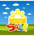 Summer Sale Title vector image