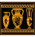 hellenic jugs vector image