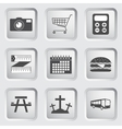 Icons on the buttons for Web Design Set 3 vector image