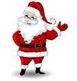 santa claus cartoon for you design vector image vector image