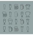 Set of twenty beer glass vector image