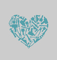 Symbol heart of carpentry tools Logo for carpentry vector image