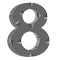 Numeral eight vector image