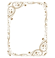 calligraphy decorative frame vector image vector image